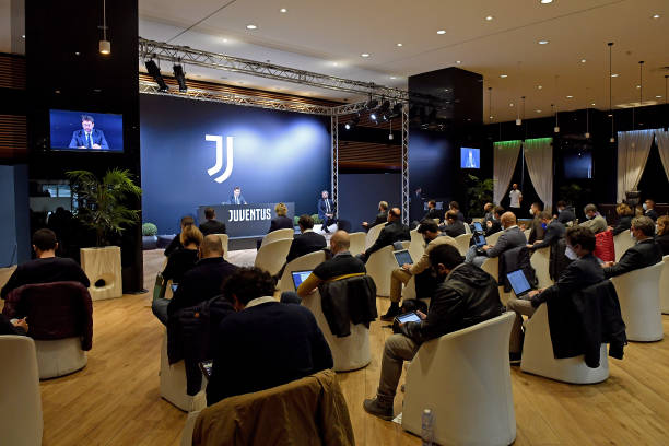 Juventus Shareholders Meeting Press Conference at Allianz Stadium on October 15 2020 in Turin Italy