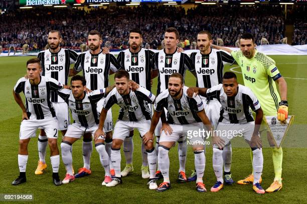 Juventus squad during the UEFA Champions League Final match between Real Madrid and Juventus at the National Stadium of Wales Cardiff Wales on 3 June...
