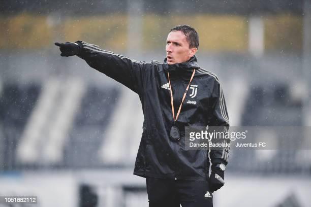 Juventus staff Emanuele Chiappero during a Juventus Women training session at Juventus Center Vinovo on October 11 2018 in Vinovo Italy