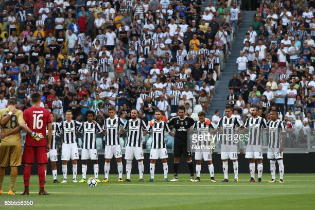 Juventus Team before the Serie A football match n1 JUVENTUS CAGLIARI on at the Allianz Stadium in Turin Italy