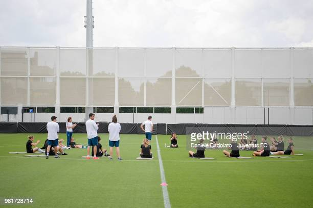 Juventus team during the Juventus Women training session on May 23 2018 in Turin Italy