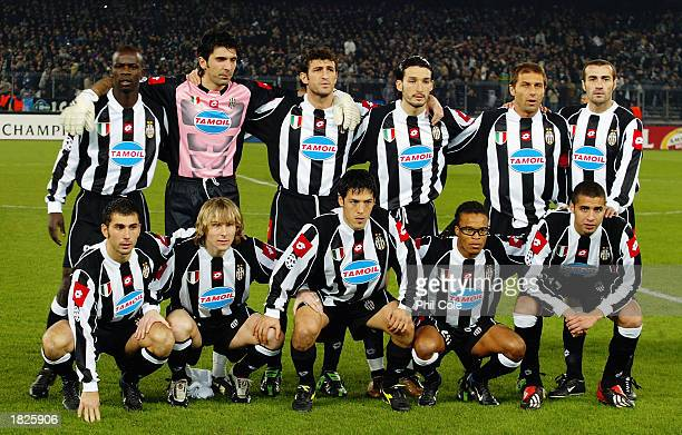 Juventus team group taken before the UEFA Champions League Second Phase Group D match between Juventus and Manchester United held on February 25 2003...