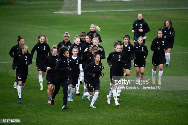 Juventus team in action during the Juventus women training session on November 8 2017 in Turin Italy