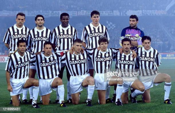 Juventus team Jurgen Kohler Marco De Marchi Júlio César da SilvaDino Baggio Angelo Peruzzi Roberto Galia Roberto Baggio Massimo Carrera Andreas...