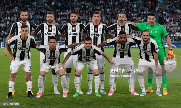 Juventus team line up before the UEFA Champions League Semi Final second leg match between Juventus and AS Monaco at Juventus Stadium on May 9 2017...