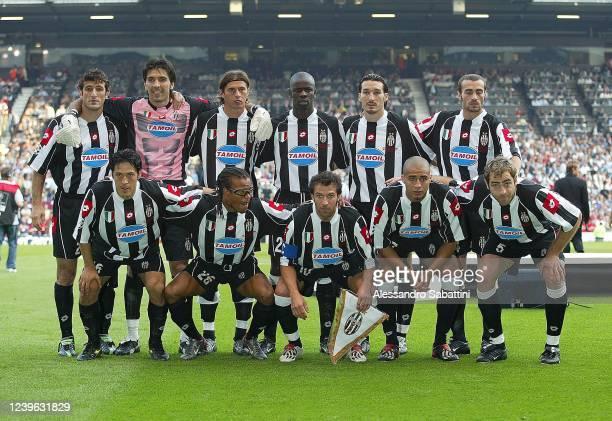 Juventus team line up Ciro Ferrara, Gianluigi Buffon, Alessio Tacchinardi, Lilian Thuram, Gianluca Zambrotta, Pablo Montero, Mauro Camoranesi, Edgard...