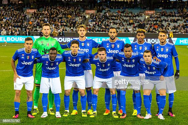 Juventus team photo before playing Tottenham Hotspur in Match 2 of the International Champions Cup 2016 on July 26 2016 in Melbourne Australia Chris...