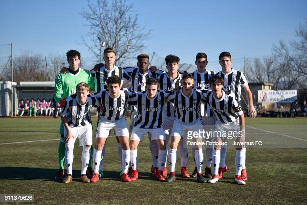 Juventus team photo during the U17 match between Torino FC and Juventus on January 28 2018 in Turin Italy