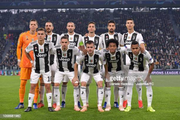Juventus team pose before the Group H match of the UEFA Champions League between Juventus and Manchester United at on November 7 2018 in Turin Italy