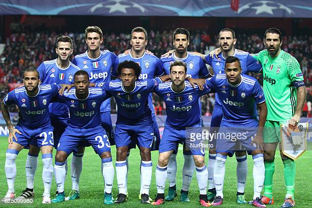 Juventus team poses in order to be photographed before the Uefa Champions League group stage football match n5 SEVILLA JUVENTUS on at the Stadio...