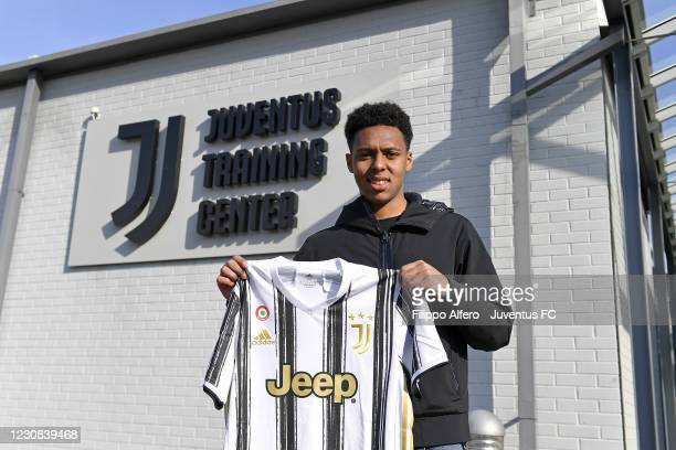 Juventus U23 unveils new signing Marley Ake at Juventus Center Vinovo on January 28, 2021 in Vinovo, Italy.
