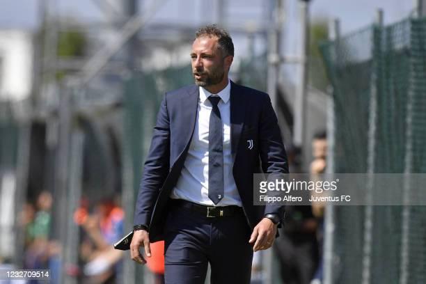 Juventus Under 19 head coach Andrea Bonatti during the Primavera 1 TIM match between Juventus U19 and Empoli FC U19 at Juventus Center Vinovo on May...