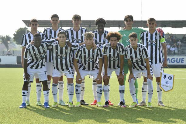 Juventus Under 19 starting eleven team shot during the UEFA Youth League match between Juventus U19 and Chelsea FC U19 at Juventus Center Vinovo on...
