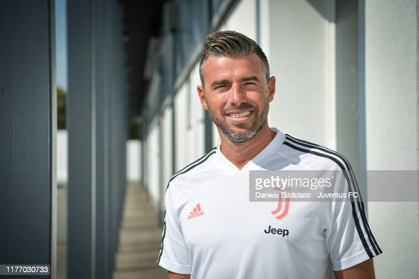 Juventus unveil new technical assistant Andrea Barzagli on September 25, 2019 in Turin, Italy.