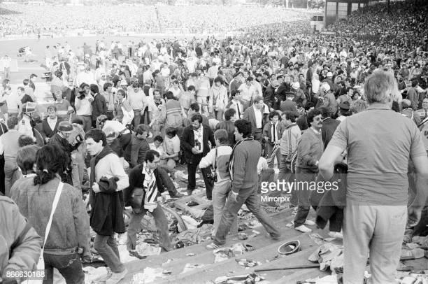 Juventus v Liverpool 1985 European Cup Final Heysel Stadium Brussels Wednesday 29th May 1985 Heysel Stadium Disaster 39 people mostly Juventus fans...