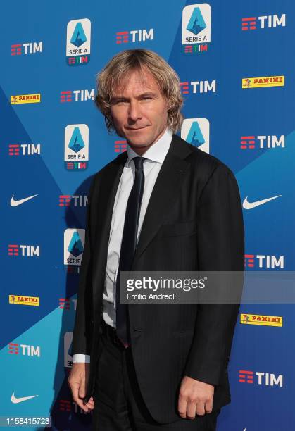 Juventus Vice President Pavel Nedved attends the Serie A 2019/2020 fixture unveiling on July 29, 2019 in Milan, Italy.