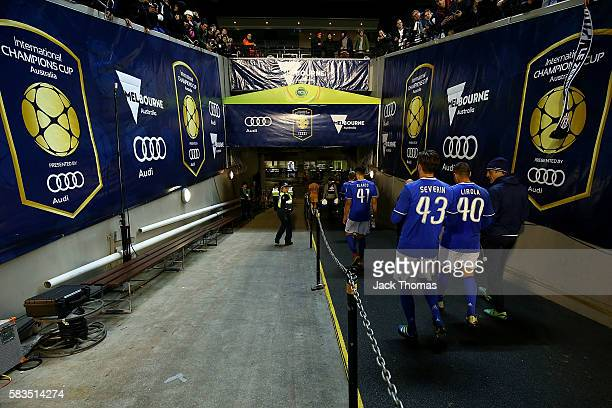 Juventus walks off the field after defeating Tottenham in the 2016 International Champions Cup match between Juventus FC and Tottenham Hotspur at...