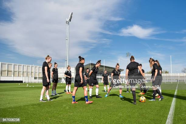 Juventus Women first training session at Jtc in Continassa on April 16 2018 in Turin Italy
