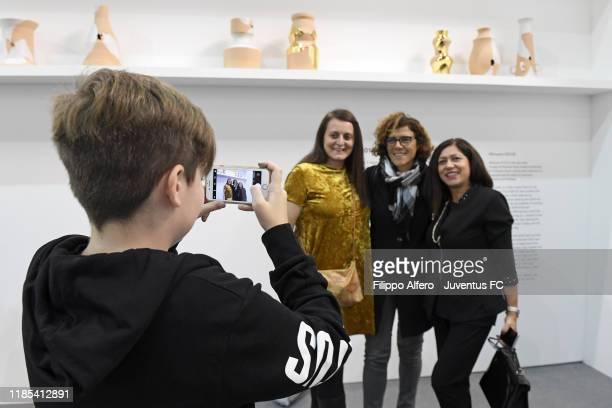 Juventus Women head coach Rita Guarino attends Juventus at Artissima Junior on October 31, 2019 in Turin, Italy.
