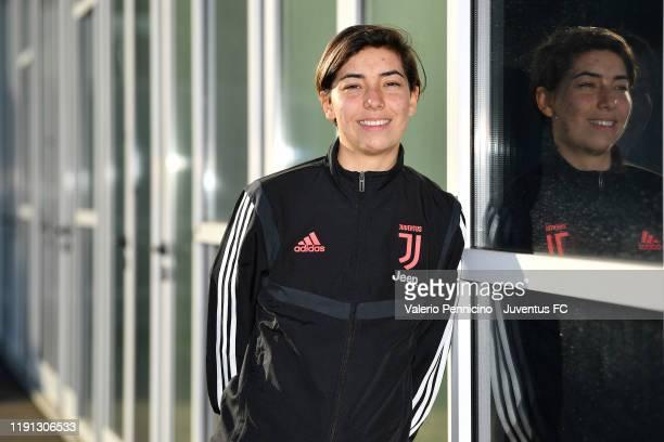 Juventus Women new signing Annahita Zamanian poses on January 2, 2020 in Turin, Italy.
