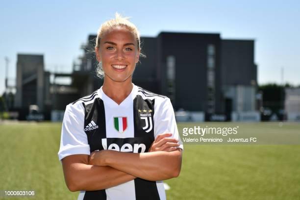 Juventus Women new signing Hilda Petronella Ekroth poses on July 17 2018 in Vinovo Italy
