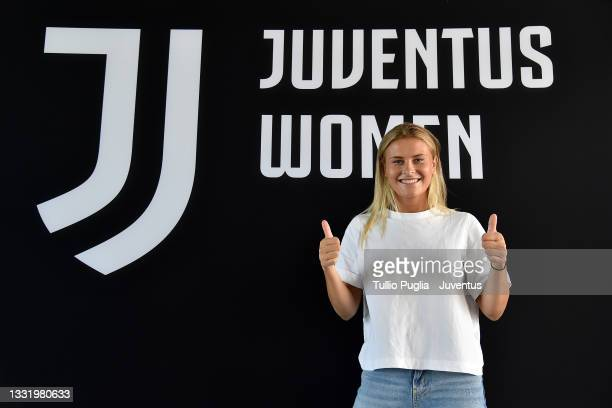 Juventus Women unveil new signing Amanda Nilden at Juventus Center Vinovo on August 02, 2021 in Vinovo, Italy.