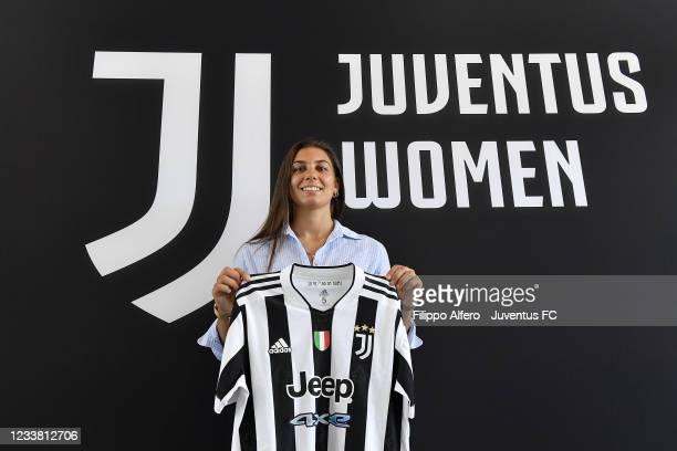 Juventus Women unveils new signing Agnese Bonfantini at Juventus Center Vinovo on July 02, 2021 in Vinovo, Italy.