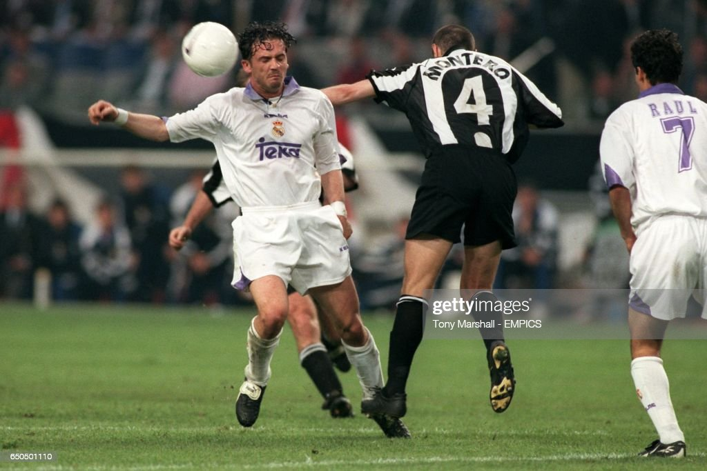 Juventus's Paolo Montero and Real Madrid's Predrag Mijatovic ...