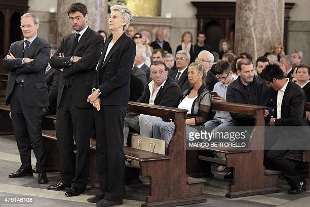 Juventus's President Andrea Agnelli attends a mass at Gran Madre di Dio church in Turin on May 29 to mark the 30th anniversary of the Heysel Stadium...