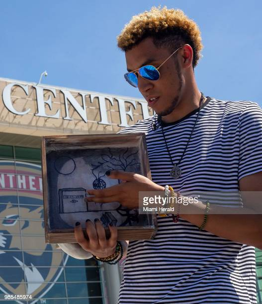 Juwan Baron a fan from Maryland traveled to South Florida for the memorial service in honor of slain rapper XXXTentacion at the BBT Center in Sunrise...