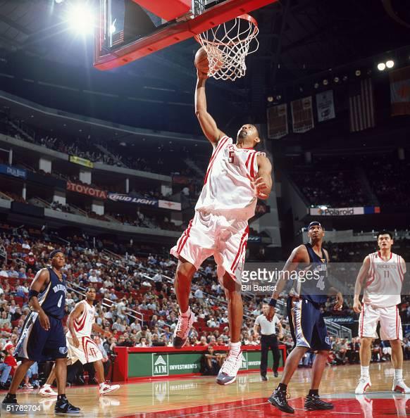 Houston Rockets News Today: Juwan Howard Of The Houston Rockets Makes A Layup Against