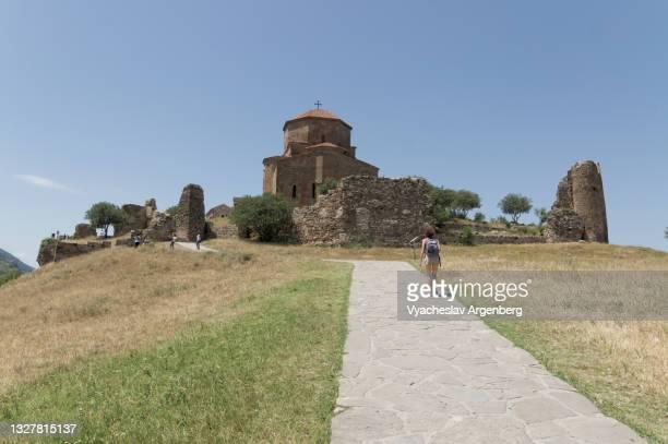 jvari georgian christian orthodox monastery, mtskheta - argenberg stock pictures, royalty-free photos & images