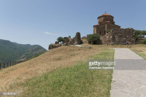 jvari monastery, mtskheta, georgia - argenberg stock pictures, royalty-free photos & images
