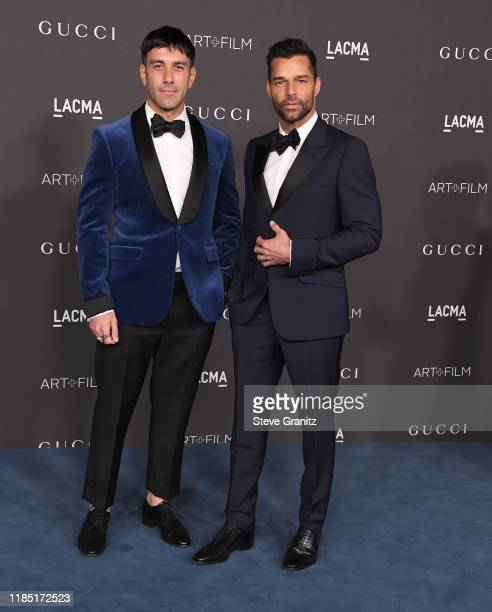 Jwan Yosef and Ricky Martin arrives at the LACMA Art + Film Gala Presented By Gucci on November 02, 2019 in Los Angeles, California.