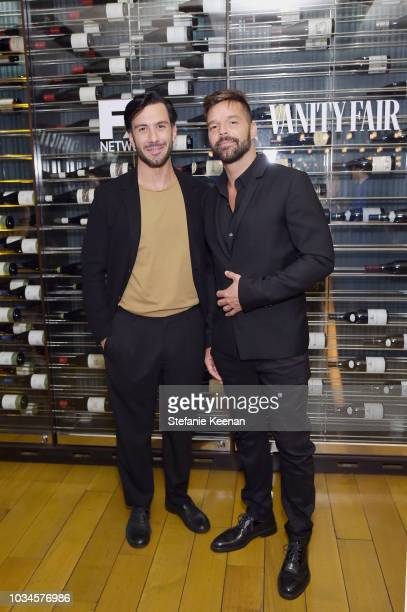 Jwan Yosef and Ricky Martin attend FX Networks celebration of their Emmy nominees in partnership with Vanity Fair at Craft on September 16 2018 in...