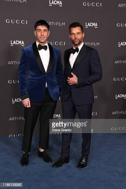 Jwan Yosef and Ricky Martin attend the 2019 LACMA 2019 Art + Film Gala Presented By Gucci at LACMA on November 02, 2019 in Los Angeles, California.