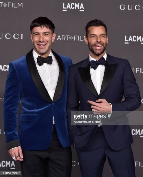 Jwan Yosef and Ricky Martin attend the 2019 LACMA Art Film Gala Presented By Gucci on November 02 2019 in Los Angeles California