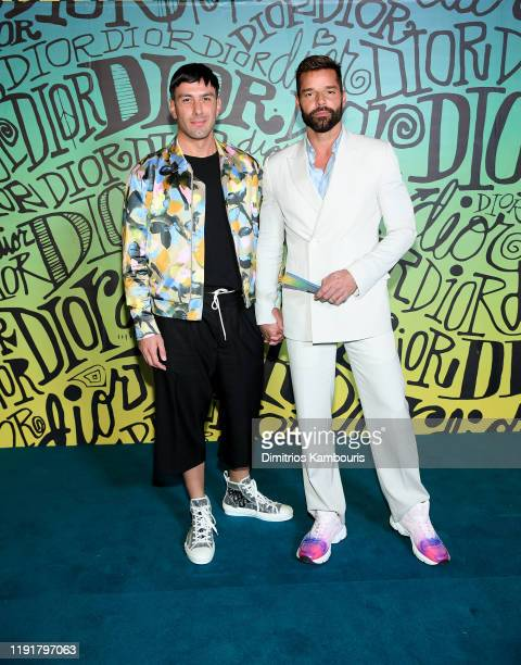 Jwan Yosef and Ricky Martin attend the Dior Men's Fall 2020 Runway Show on December 03 2019 in Miami Florida