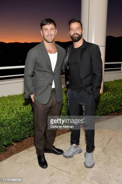 Jwan Yosef and Ricky Martin attend The J Paul Getty Medal Dinner 2019 at The Getty Center on September 16 2019 in Los Angeles California