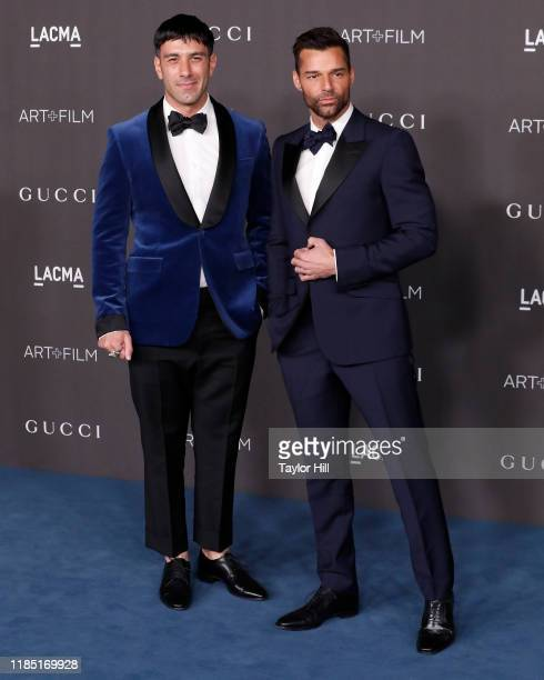 Jwan Yosef and Ricky Martin attends the 2019 LACMA Art + Film Gala at LACMA on November 02, 2019 in Los Angeles, California.