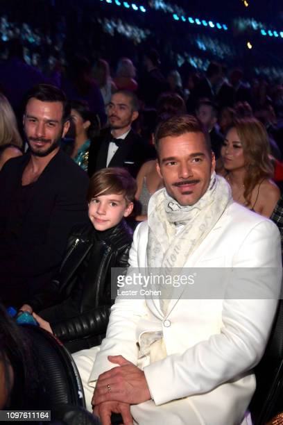 Jwan Yosef and Ricky Martin during the 61st Annual GRAMMY Awards at Staples Center on February 10 2019 in Los Angeles California