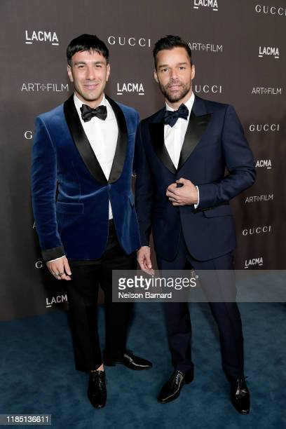 Jwan Yosef and Ricky Martin wearing Gucci attend the 2019 LACMA Art Film Gala Presented By Gucci at LACMA on November 02 2019 in Los Angeles...