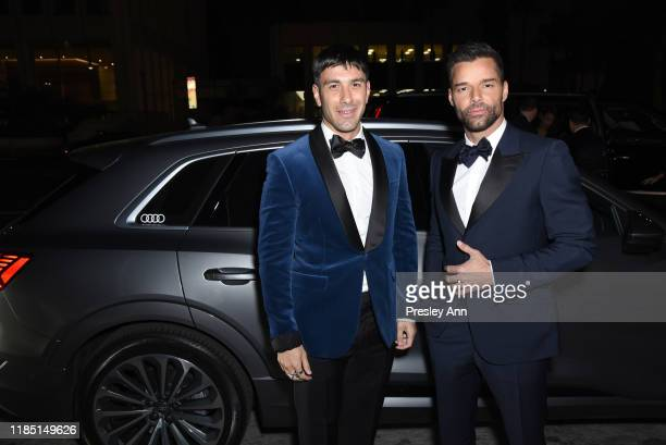 Jwan Yosef and Ricky Martin, wearing Gucci, attend the 2019 LACMA Art + Film Gala Presented By Gucci at LACMA on November 02, 2019 in Los Angeles,...