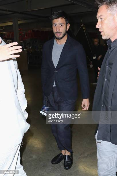Jwan Yosef is seen backstage of Univision's 29th Edition of Premio Lo Nuestro A La Musica Latina at the American Airlines Arena on February 23 2017...