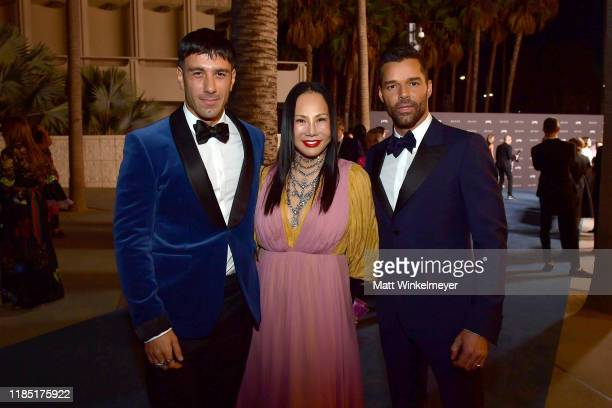 Jwan Yosef LACMA Trustee and Ricky Martin all wearing Gucci attend the 2019 LACMA Art Film Gala Presented By Gucci at LACMA on November 02 2019 in...