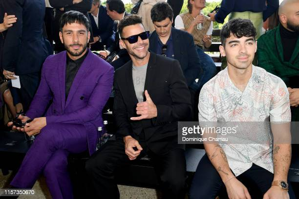Jwan Yosef Ricky Martin and Joe Jonas attend the Berluti Menswear Spring Summer 2020 show as part of Paris Fashion Week on June 21 2019 in Paris...