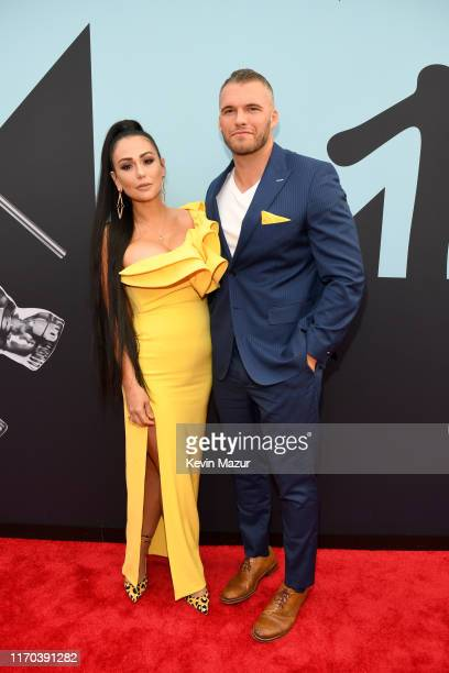 JWoww and Clayton Carpinello attend the 2019 MTV Video Music Awards at Prudential Center on August 26, 2019 in Newark, New Jersey.