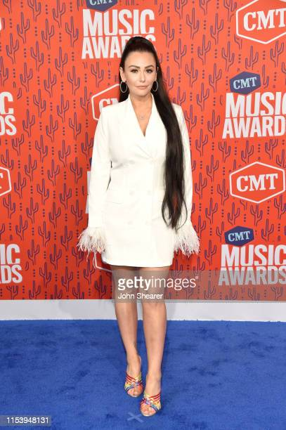 JWoww attends the 2019 CMT Music Awards at Bridgestone Arena on June 05, 2019 in Nashville, Tennessee.