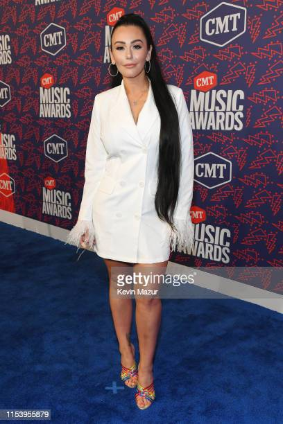 JWoww attends the 2019 CMT Music Awards at Bridgestone Arena on June 05 2019 in Nashville Tennessee