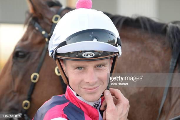 Jye McNeil after winning the Hertz Gippsland FM Maiden Plate at Racingcom Park Racecourse on January 30 2020 in Pakenham Australia